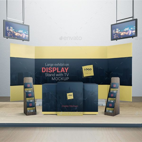 Exhibition Stand Free Mockup : Exhibition stand mock up templates by crusadernels graphicriver