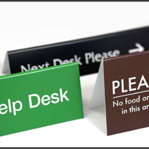 office front desk signs in Lagos