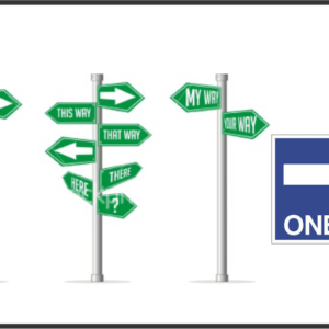 Directional signs in Lagos