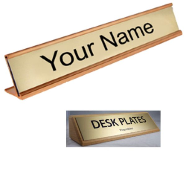 Office desktop signs in Lagos