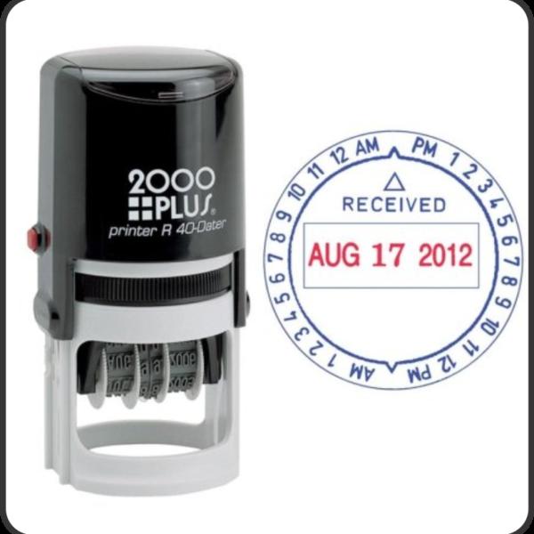 Self-ink date stamp2
