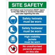 Site safety signs in Lagos