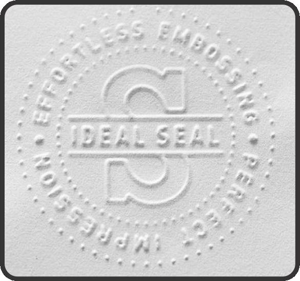 embossed seal print
