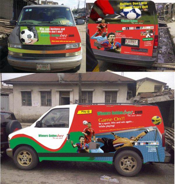 Bus branding company in Lagos