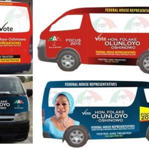 vehicle branding in Lagos