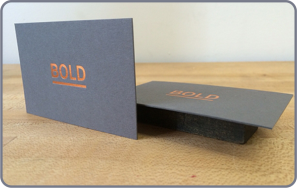 Business card with 600gsm & 900gsm card thickness