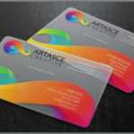Clear Plastc Business card Printing