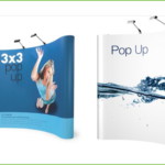 Curved pop banners design and Printing