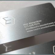 Exotic Metallic Business card