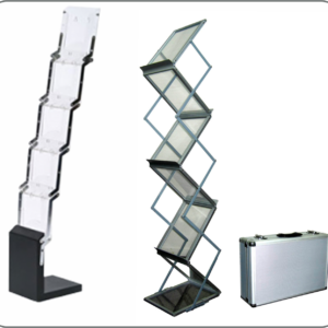 brochure stands in Lagos