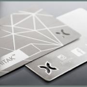 Premium Metallic Business card