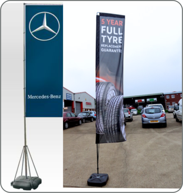 Rectangular Flying Banner Design and printing Lagos