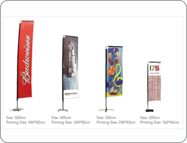 Rectangular Tear drop n Flying Banner Design and printing Lagos