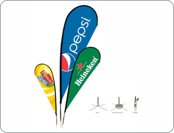 Tear drops n Flying banners display design and Printing Lagos