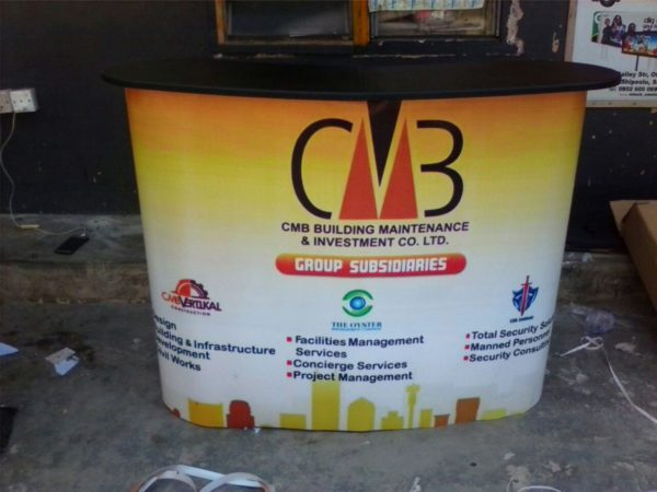 pop up counter table in Lagos