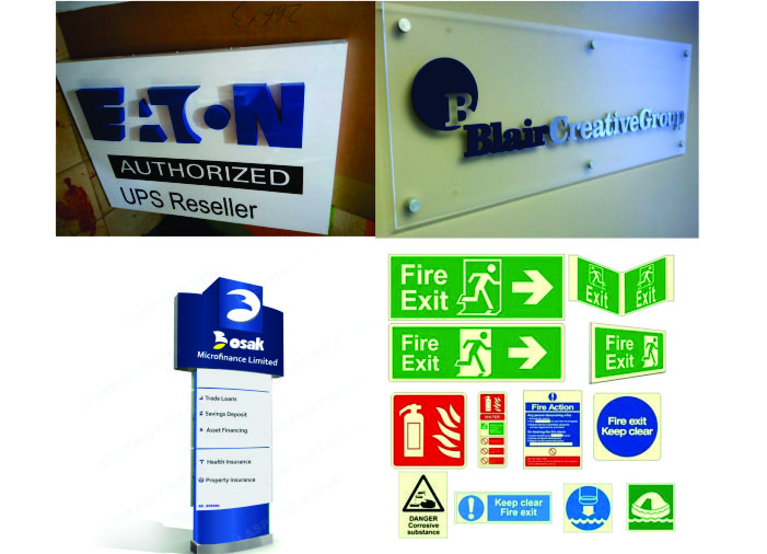 Signs and display in Lagos